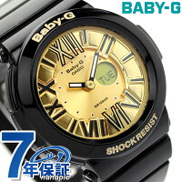 ベビーGカシオ腕時計ネオンダイアルシリーズアナデジゴールド×ブラックBaby-GCASIOBGA-160-1BDR