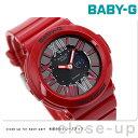 Baby-G レディース ベビーG カシオ 腕時計 ネオンダイアルシリーズ アナデジ ブラック × レッド CASIO BGA-160-4BDR 時計