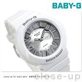 CASIO Baby-G ネオンダイアルシリーズ アナデジ シルバー×ホワイト BGA-160-7B1DR【あす楽対応】