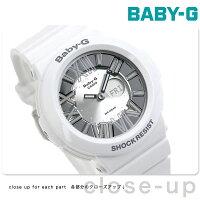 CASIO Baby-G ネオンダイアルシリーズ アナデジ シルバー×ホワイト BGA-160-7B1DR