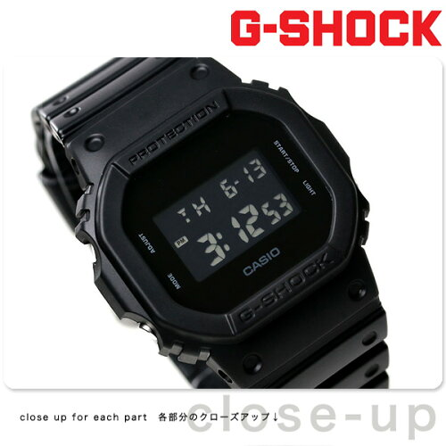 G-SHOCK CASIO DW-5600BB-1DR 腕時計 カシオ Gショック ソリッドカラーズ オールブラック