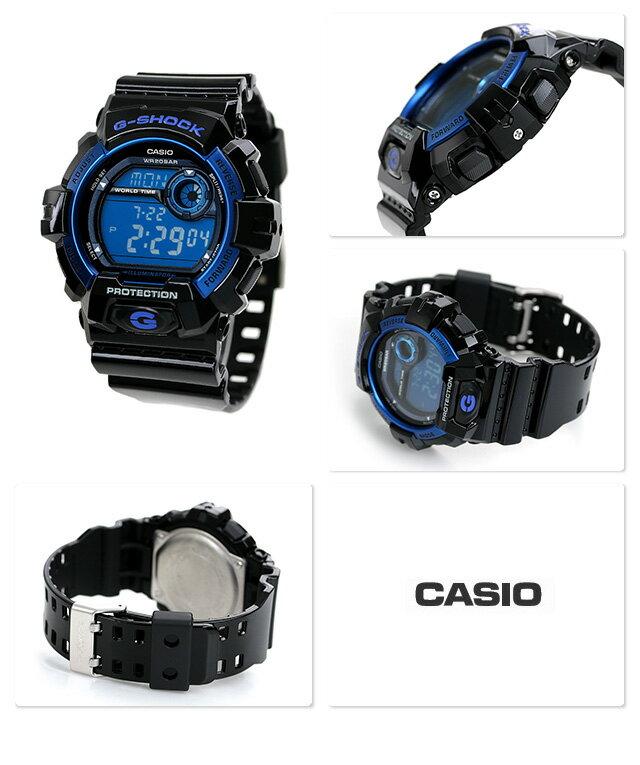 G-SHOCK CASIO G-8900A-1DR 腕時計 カシオ Gショック スタンダードモデル ブラック × ブルー 時計【あす楽対応】