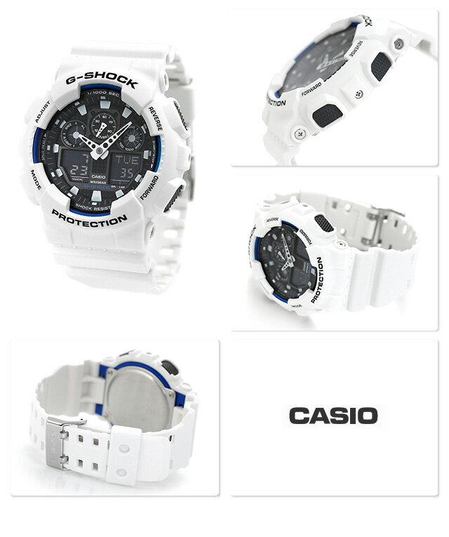 G-SHOCK CASIO GA-100B-7ADR 腕時計 カシオ Gショック コンビネーションモデル ブラック × ホワイト 時計【あす楽対応】