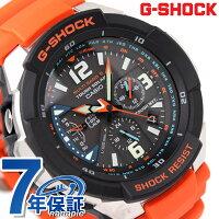 ジーショックG-SHOCKCASIO腕時計SKYCOCKPITスカイコクピットソーラー電波アナログブラック×オレンジGW-3000M-4AER