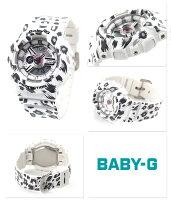 Baby-Gレオパードシリーズクオーツレディース腕時計BA-110LP-7ADRカシオベビーGホワイト