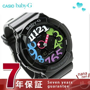 ベビーG カシオ 腕時計 レディース ネオンダイアルシリーズ オールブラック CASIO Ba…