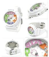 ベビーGネオンダイアルシリーズレディース腕時計BGA-131-7B3DRCASIOBaby-Gクオーツホワイト