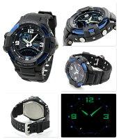 G-SHOCKスカイコックピットメンズ腕時計GA-1000-2BDRカシオGショッククオーツオールブラック×ブルー