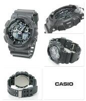 G-SHOCKカモフラージュダイアルシリーズメンズGA-100CF-8ADRカシオGショック腕時計クオーツグレー