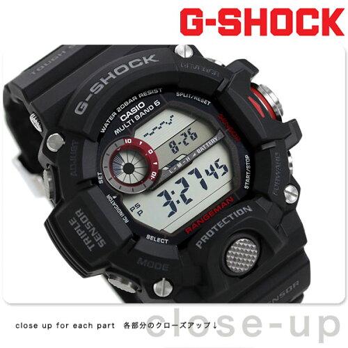 GW-9400-1DR Gショック カシオ 腕時計 メンズ マスターオブG レンジマン ブラック CASIO G-SHOCK ...