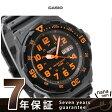カシオ 腕時計 チープカシオ デイデイト 海外モデル オールブラック×オレンジ CASIO MRW-200H-4BVDF チプカシ