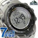 カシオ プロトレック 電波ソーラー 腕時計 メンズ ブラック CASIO PRO TREK PRW-3000T-7DR