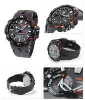 カシオプロトレックトリプルセンサー電波ソーラーPRW-6000Y-1DRCASIOPROTREKメンズ腕時計ブラック