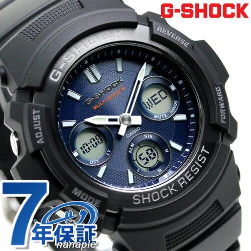 G-SHOCK 電波 ソーラー CASIO AWG-M100SB-2AER メンズ 腕時計 カシオ Gショック ブルー × ブラッ...
