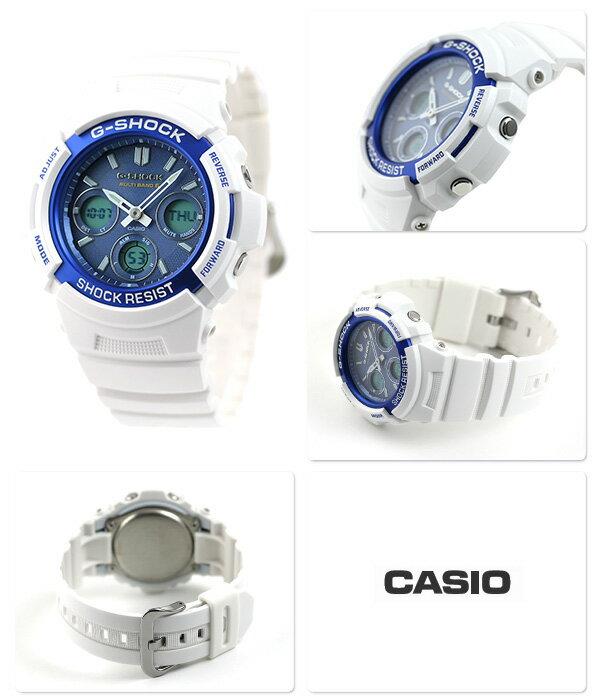 G-SHOCK メンズ 腕時計 AWG-M100SWB-7AER カシオ Gショック ブルー×ホワイト