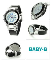 Baby-Gトリッパー電波ソーラーレディース腕時計BGA-1400-1BJFCASIOシルバー×ブラック