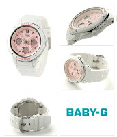 Baby-Gクオーツレディース腕時計BGA-150F-7ADRカシオベビーGピンク×ホワイト
