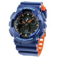 GA-100L-2ADRG-SHOCKスペシャルカラーレイヤードカラー腕時計Gショックブラック×オレンジ
