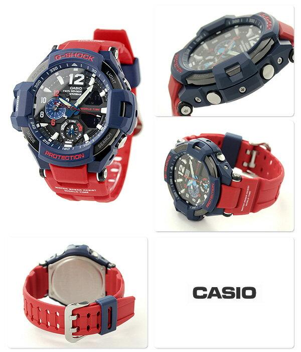 G-SHOCK CASIO GA-1100-2ADR SKY COCKPIT メンズ 腕時計 カシオ Gショック スカイコックピット ブラック × レッド 時計【あす楽対応】