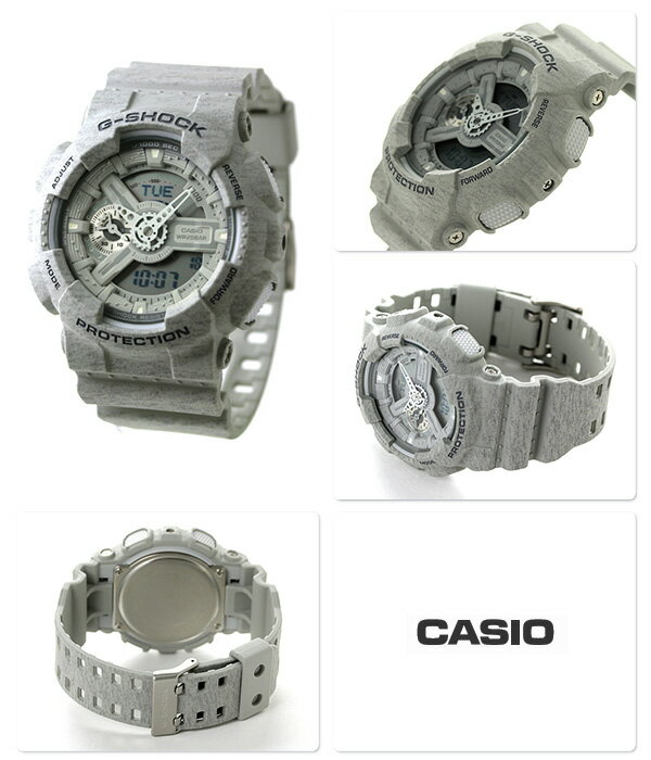 G-SHOCK CASIO GA-110HT-8ADR メンズ 腕時計 カシオ Gショック ヘザード・カラー・シリーズ グレー 時計【あす楽対応】