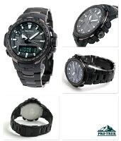 カシオ プロトレック 電波ソーラー メンズ 腕時計 PRW-6100YT-1ER CASIO PRO TREK ブラック