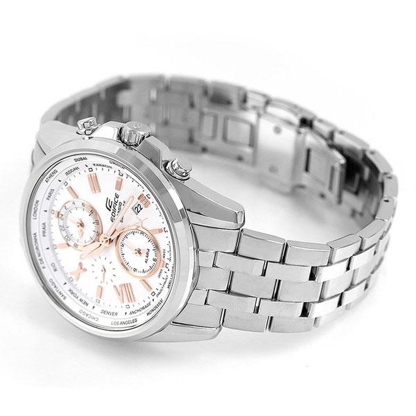 カシオ エディフィス ワールドタイム 日本製 メンズ 腕時計 EFB-301JD-7A9DR CASIO シルバー 時計【あす楽対応】
