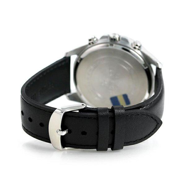 カシオ エディフィス クロノグラフ 革ベルト メンズ 腕時計 EFR-546L-1AVDF CASIO ブラック 時計【あす楽対応】
