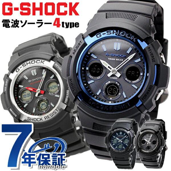 G-SHOCK電波ソーラー電波時計AWG-M100アナデジ腕時計カシオGショックブラック あす楽対応
