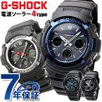 G-SHOCK 電波 ソーラー AWG-M100 アナデジ 腕時計 カシオ Gショック ブラック【あす楽対応】