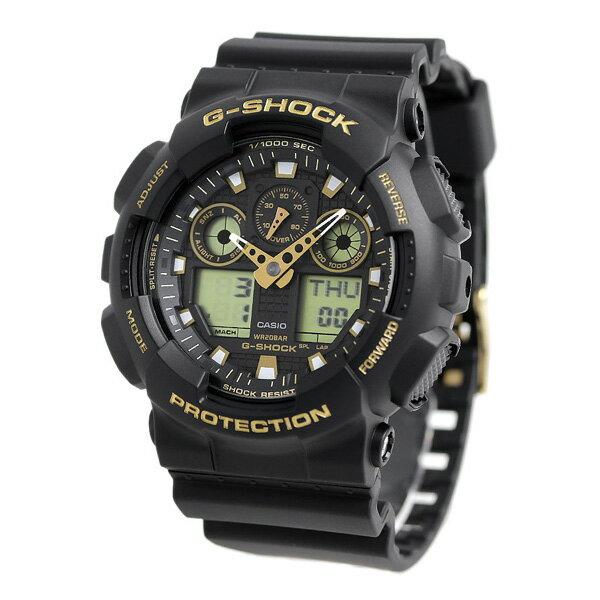 G-SHOCK スペシャルカラー クオーツ メンズ 腕時計 GA-100GBX-1A9DR カシオ Gショック ブラック 時計【あす楽対応】