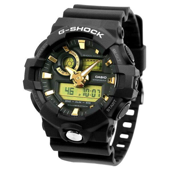 G-SHOCK ワールドタイム GA-710B アナデジ メンズ 腕時計 GA-710B-1A9DR カシオ Gショック ブラック【あす楽対応】