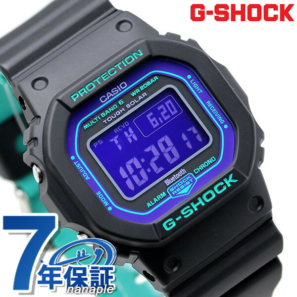 G-SHOCKGショックスペシャルカラー電波ソーラーGW-B5600メンズ腕時計GW-B5600BL-1ERデジタルパープル×ブ
