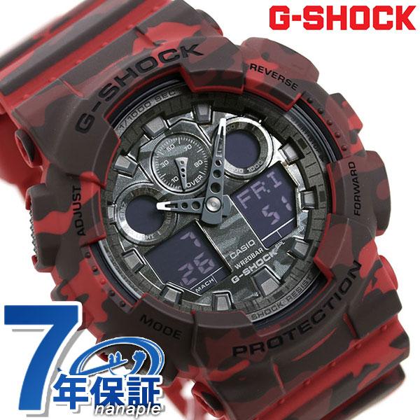 CASIO G-SHOCK Red watch G-SHOCK CASIO GA-100CM-4...