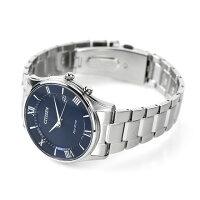シチズン 薄型 電波ソーラー メンズ 腕時計 AS1060-54L CITIZEN ネイビー