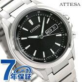 AT6040-58E シチズン アテッサ デイデイトモデル 電波ソーラー CITIZEN ATTESA メンズ 腕時計 ブラック【あす楽対応】