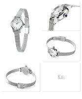 シチズンキークラシックメッシュバンドソーラーEG2990-56ACITIZENKiiレディース腕時計シルバー