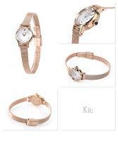 シチズンキークラシックメッシュバンドソーラーEG2992-51ACITIZENKiiレディース腕時計シルバー×ピンクゴールド