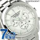インディペンデント タイムレスライン クロノグラフ BR1-412-11 INDEPENDENT メンズ 腕時計 クオーツ シルバー 時計