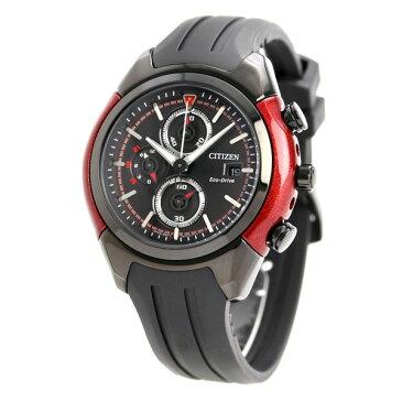 シチズン 逆輸入 海外モデル クロノグラフ エコドライブ CA0287-05E CITIZEN 腕時計 ブラック×レッド 時計【あす楽対応】
