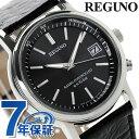 シチズン レグノ メンズ ソーラー 電波 クラシック ストラップ ブラック カーフレザーベルト CITIZEN REGUNO KL7-019-50 腕時計 時計