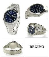 シチズンレグノスタンダードリングソーラーメンズKM1-016-71CITIZENREGUNO腕時計ブルー