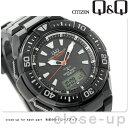 シチズン Q&Q 電波ソーラー コンビネーション ソーラーメイト MD06-302 CITIZEN メンズ 腕時計 オールブラック