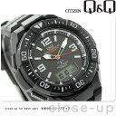 シチズン Q&Q 電波ソーラー コンビネーション ソーラーメイト MD06-305 CITIZEN メンズ 腕時計 オールブラック