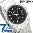 シチズン REGUNO レグノ ソーラーテック電波時計 ブラック/バーインデックス RS25-0483H 腕時計 時計