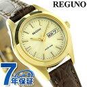 シチズン レグノ リングソーラー レディース 腕時計 KM2-021-30 CITIZEN REGUNO ゴールド×ブラウン 時計