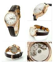 シチズンメカニカルペアウォッチレディース自動巻きPD7152-08ACITIZEN腕時計シルバー×ブラウン