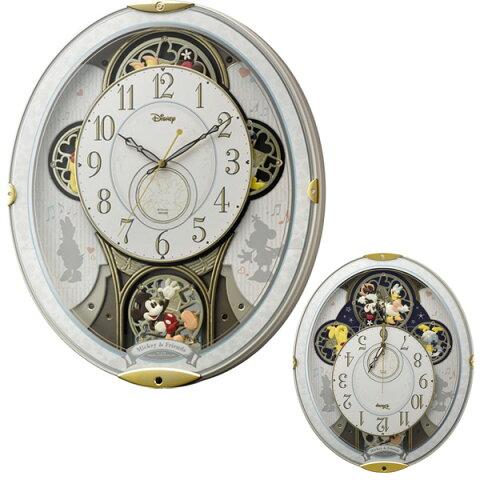 店内ポイント最大43倍!18日1時59分まで! クロック ミッキーマウス 掛時計 電波 4MN509MC03 Mickey Mouse 時計