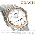 コーチ デランシー 36mm クオーツ メンズ 腕時計 14502266 COACH シルバー