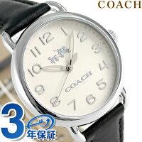 コーチデランシー36mmクオーツメンズ腕時計14502437COACHアイボリー×ブラック