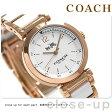 コーチ クオーツ レディース 腕時計 14502463 ホワイト×ピンクゴールド